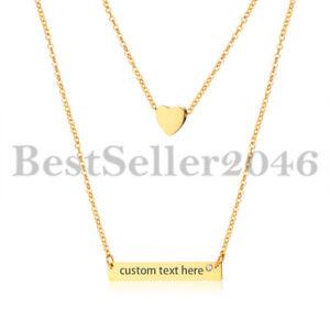 Personalized-Women-Girls-Heart-Charm-Horizontal-Name-Bar-Necklace-Adj-14-034-16-034