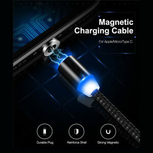 1-3M-LED-Magnetic-Type-C-Micro-IOS-Adapter-Charge-USB-Cable-For-iPhone-Samsung