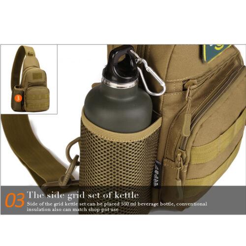 Wandern Brusttasche Schultertasche Messenger Sling Bag Crossbody Umhängetasche k