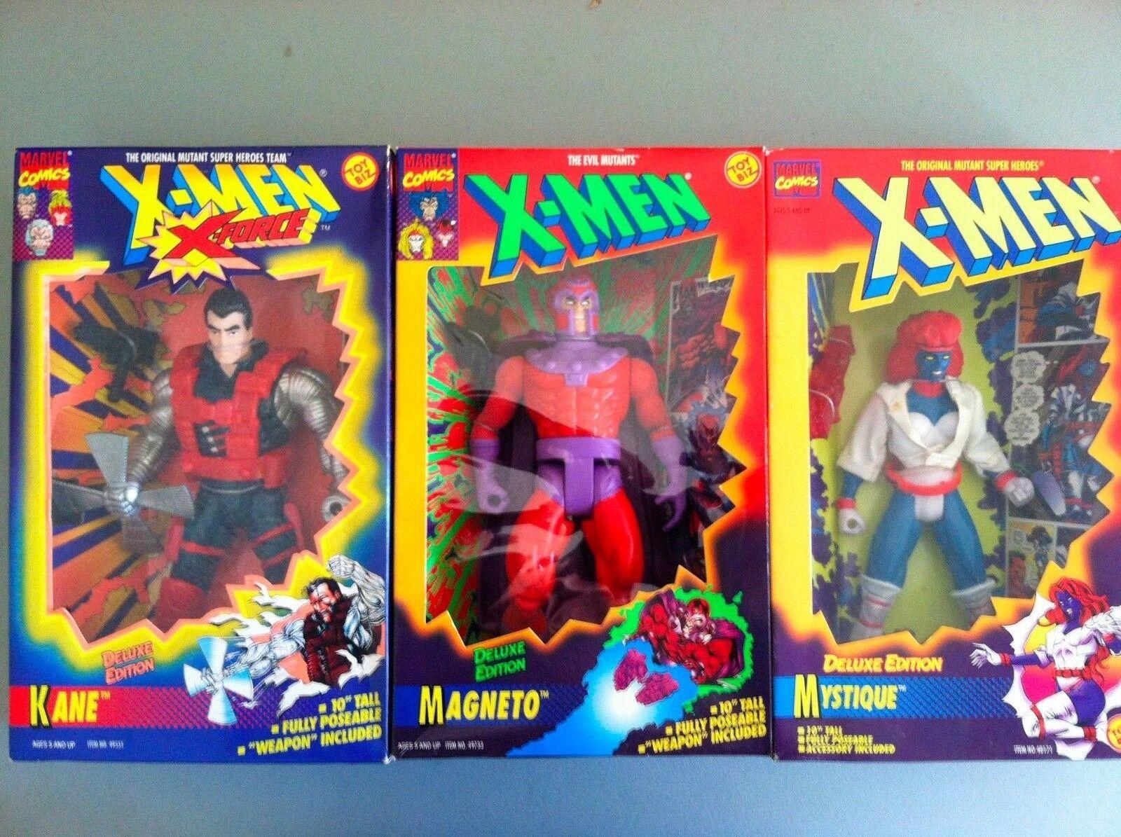 10 Pulgadas Juguetebiz Xmen Xforce (juego de tres) Kane Magneto Mystique Marvel Stan Hulk