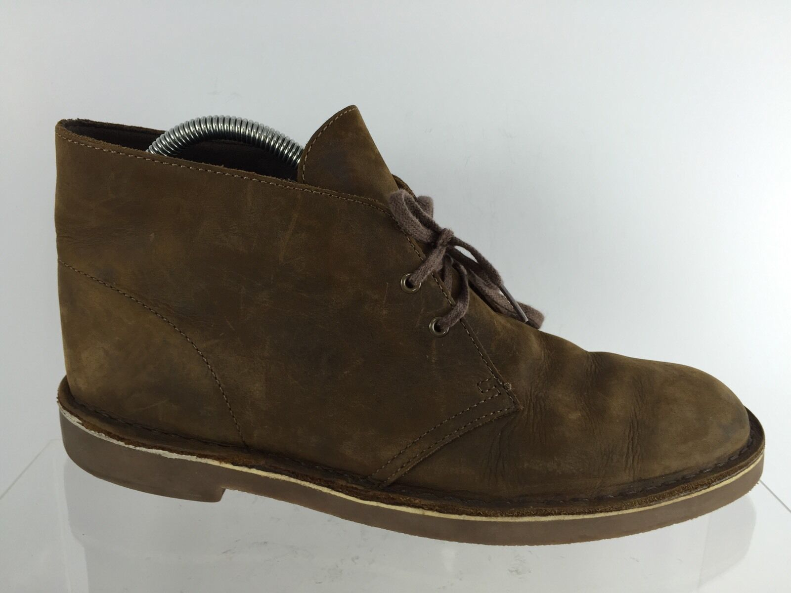 Clarks Mens Brown Leather Ankle Boots 10.5 M