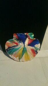 Necklace-Pendant-Shell-Design-Porcelain-Multi-Color-Glaze