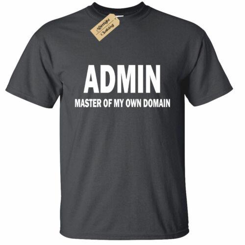 Niños Chicos Chicas Admin maestro de mi propio dominio T Shirt Funny Geek Nerd De Computadora