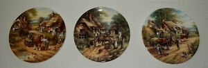 Vintage-Wedgwood-Collectors-Plates-x-3-The-Country-Days-Collection-1991-CM