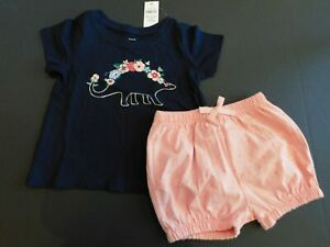 NWT-Gap-Baby-Toddler-Girl-039-s-2Pc-Outfit-Top-Bubble-Shorts-6-12M-18-24M-MSRP-30