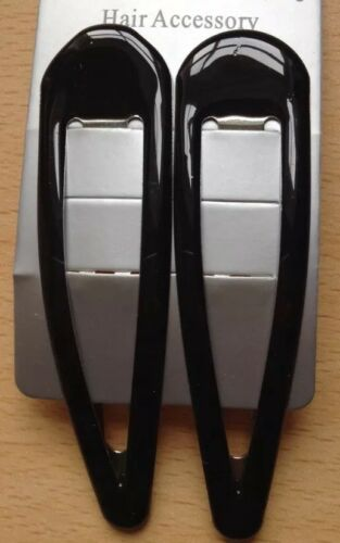 A  Twin Pack Of Large Black Hair Clips