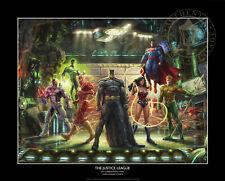 Thomas Kinkade The Justice League 12 x 18 Commemorative Print
