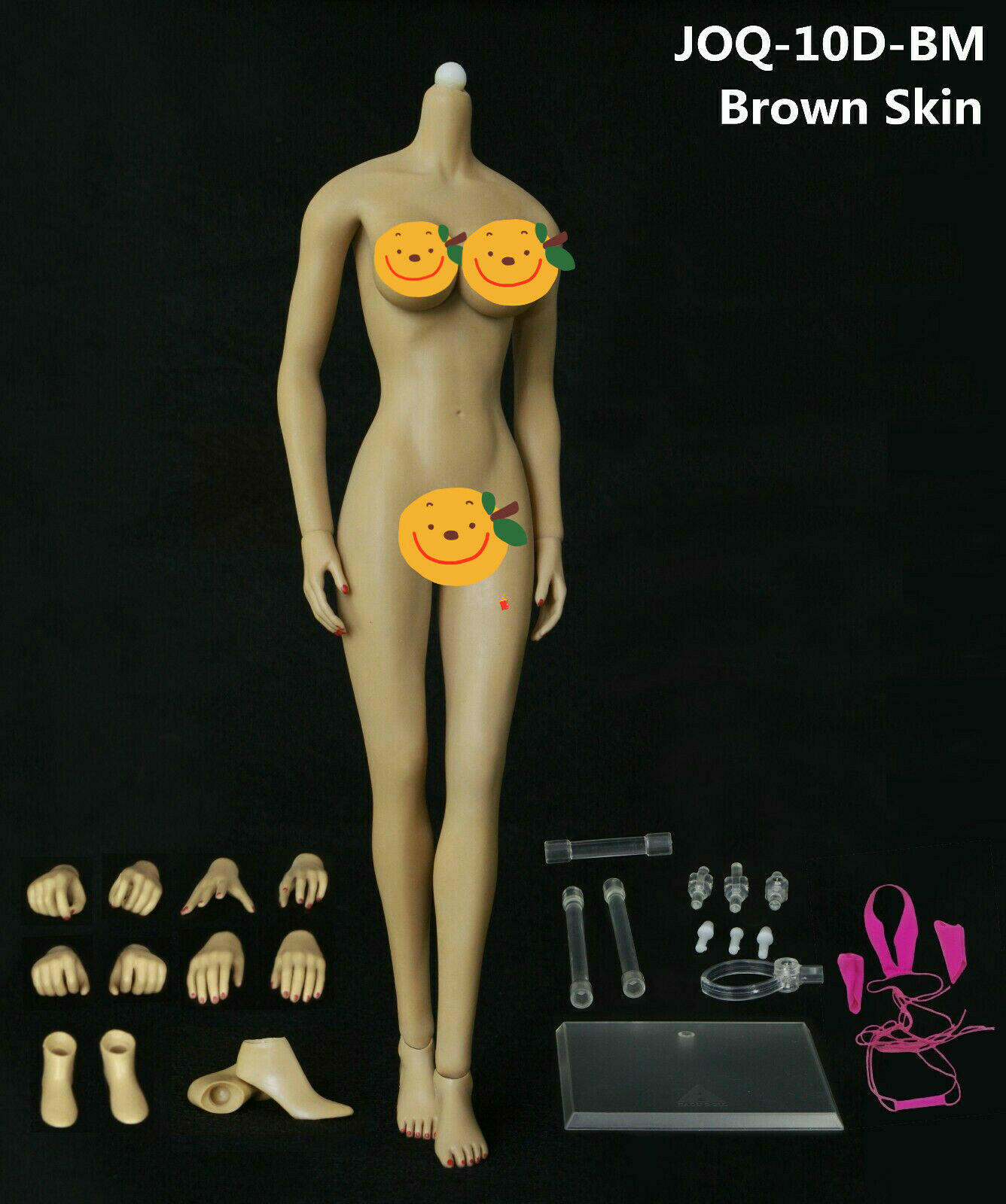 JIAOU DOLL 1 6 Female Body JOQ-10E-BM 12'' Big Bust Detachable Feet Yellow Skin