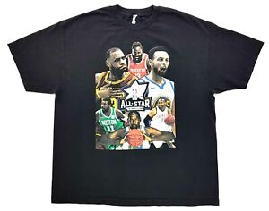 NBA-All-Star-Weekend-LA-2018-Tee-Black-Size-2XL-Mens-T-Shirt-LeBron-vs-Stephen