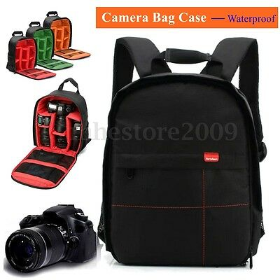 Waterproof DSLR Camera Case Backpack Shoulder Bag For Canon For Nikon For Sony