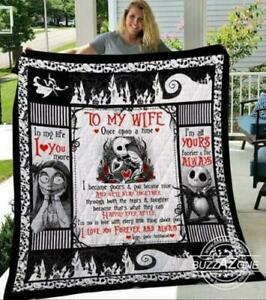 Jack /& Sally To My Wife Fleece Blanket 30x40 and 50x60 and 60x80 Made In US