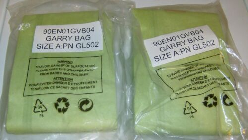 8 Garry Vacuum Cleaner Replacement Bags Size A PN GL502 New Sealed Bags