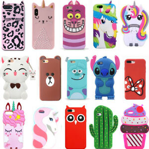 New-Hot-3D-Cute-Cool-Popular-Cartoon-Soft-Gel-Phone-Case-Cover-For-iPhone-iPod