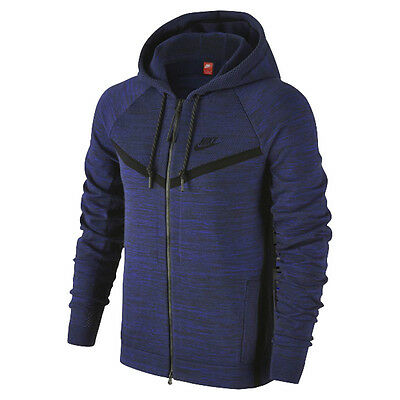 Nike Tech Knit Windrunner Hoodie Sweater Jacket Jacke Obsidian Blue S L