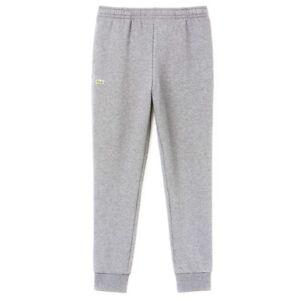 Lacoste Hombre Esencial Con Cordon De Algodon Pantalones Deportivos Pantalones Chandal Gris Ebay