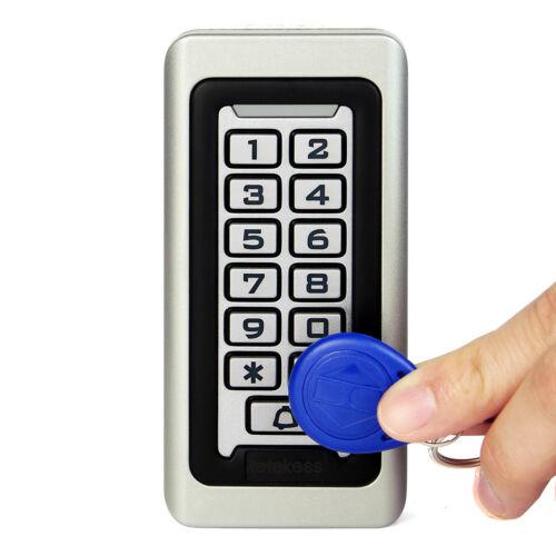 2XRetekess Access Control Keypad 125KHz Waterproof Metal Case RFID 2000 Users