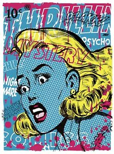 THRILLING-MYSTERY-LTD-edition-silkscreen-print-By-Frank-Forte-Pop-Surrealism