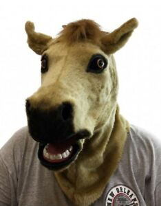 image is loading deluxe moving mouth brown horse mask animal adult