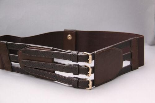 Más ancha bonito Stretch cinturón marrón talla 85 de BPC