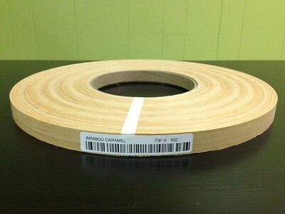 "BAMBOO WOOD VENEER EDGEBANDING NON GLUED Size ( 5/8"" to 2"" ) x 500' ROLL"