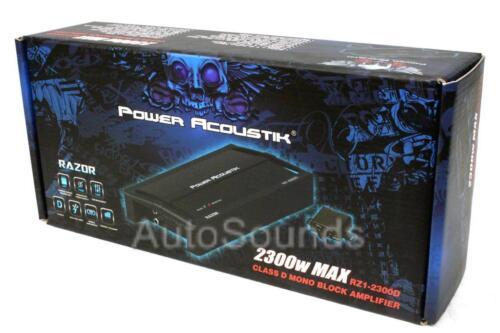 Power Acoustik RZ1-2300D 2300 Watt Monoblock Class D Car Subwoofer Amplifier New