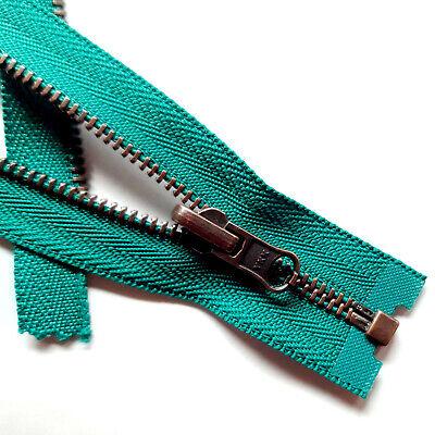 Reißverschluss unteilbar GRAU Farbtöne Größe 3 Metallkette diverse Farbvarianten