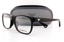Brand New EMPORIO ARMANI Eyeglass Frames 3056 5017 Black for Men Size 54