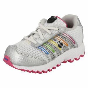 Kleidung & Accessoires Motiviert K-swiss 22443894 Schläuche Mädchen Weiß Silber Multi Turnschuh Zum Schnüren Kr Schuhe Für Mädchen
