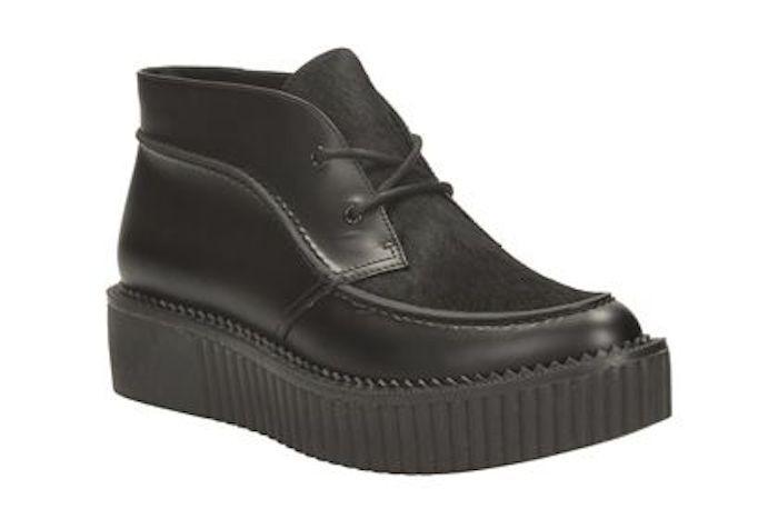 Clarks Clarks Clarks Rockn Ankle Platform Creeper Boot Black Leather & Calf Hair Sz US 5.5 NWT a3a6b0