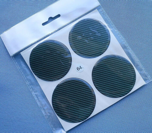 64c 4 CARBON LOCK emblemi COPRIMOZZO PER CERCHIONI COPERCHIO 64mm in Silicone Adesivo