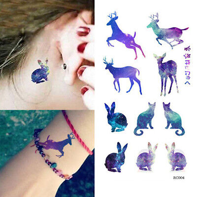 Lovely Waterproof Temporary Arm Tattoos Elk Tattoo Sticker Removable Body Art LA