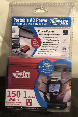 New Tripp Lite Pv150 Power Inverter 150 Watt Ultra-Compact 150 Watts dc to ac