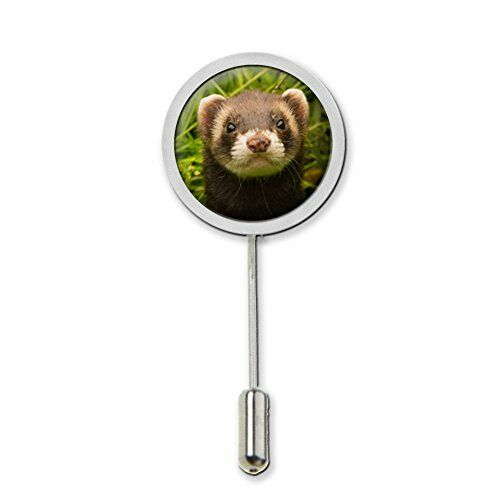 Ferret Stick Pin Tie Pin Badge With Protector Ideal Birthday Gift c359