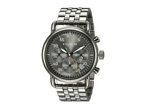 Coach-Watch-14602375-Delancey-Analog-Quartz-Men-039-s-Watch-New-with-Tags