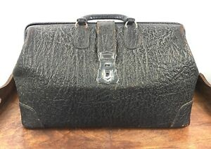 Antique Vtg Exotic Leather Doctor S Bag Early 1900s Gc Home Decor Ebay