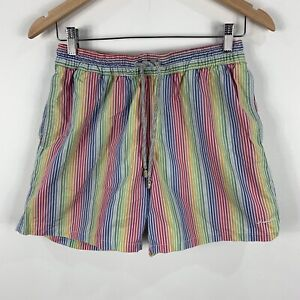 Industrie-Mens-Shorts-Small-Multicoloured-Elastic-Waist-Drawstring-Pockets