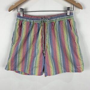 Industrie Mens Shorts Small Multicoloured Elastic Waist Drawstring Pockets