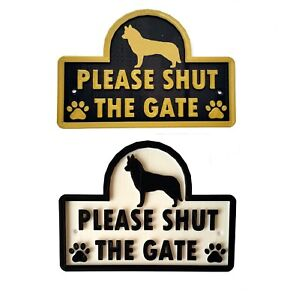 Husky-Please-Shut-The-Gate-3D-Dog-Plaque-House-Garden-Door-Wall-Sign