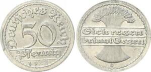 Inflationszeit 50 Pfennig 1922 G Last Digit IN Year IN Stamp Geänder 44676