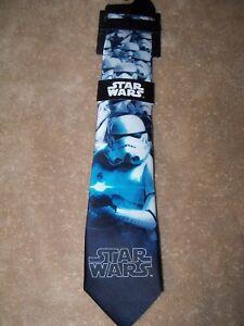 Star Wars Darth Vader Storm Trooper Necktie Mens Neck Tie NWT