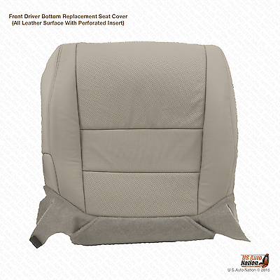 Fits 2007 Acura TL Type S Front Driver Bottom Perforated Leather Seat Cover Gray