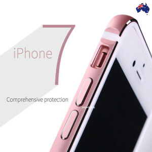 check out 9af23 8aa09 Aluminum Metal Bumper Frame TPU Rubber Inside Cover Case for iPhone ...
