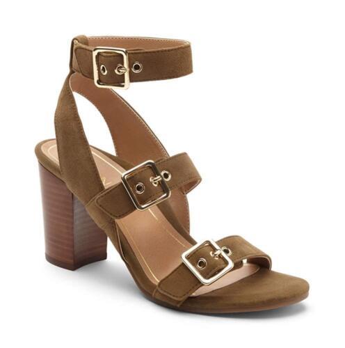 Vionic Womens Perk Carmel Backstrap Strappy Dress Sandals Block High Heel
