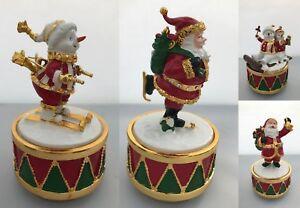 Musical-Christmas-Ornament-Figurines-Snowman-Santa-Claus-Father-Christmas-Xmas