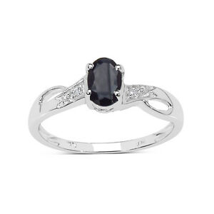 9CT-WHITE-GOLD-SMALL-SAPPHIRE-amp-DIAMOND-ENGAGEMENT-RING-SIZE-HIJKQRST