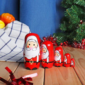 5pcs-Wooden-Russian-Nesting-Doll-Belly-Girl-Handcraft-Matryoshka-Toys-Christmas