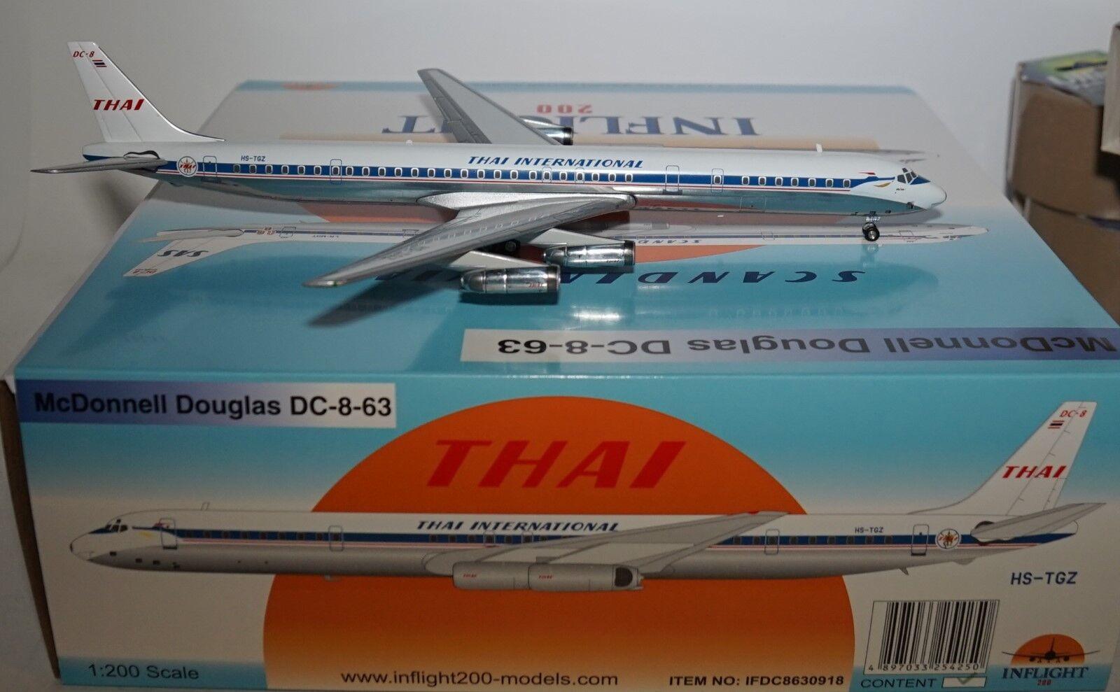 Inflight 200 IFDC8630918 DC-8-63 Thai Airways Internationale Hs-Tgz in 1 200