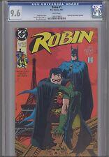 Robin #1  CGC 9.6 1991 DC  Comic: Batman on Cover too