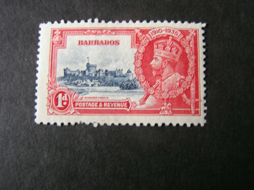 BARBADOS, SCOTT # 186, 1p. VALUE 1935 SILVER JUBILEE MH