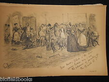 Antiquarian Sporting Print of Fox Hunting & Hounds (Fore's Notes/Sport c1886)